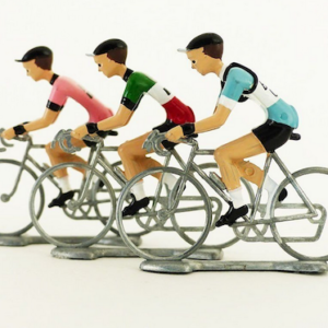 Miniatur Rennradfahrer 3er-Team - Flandriens The Orginals Fausto Coppi